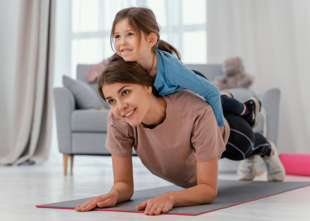 image showing mother daughter playing showing the benefits of healthy diet   Agrrro