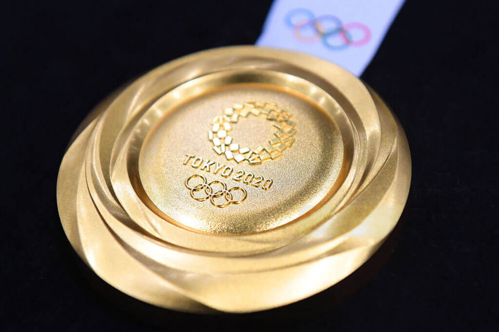 image showing an Olympic medal for tokyo olympics 2020 made from metal waste | Agrrro